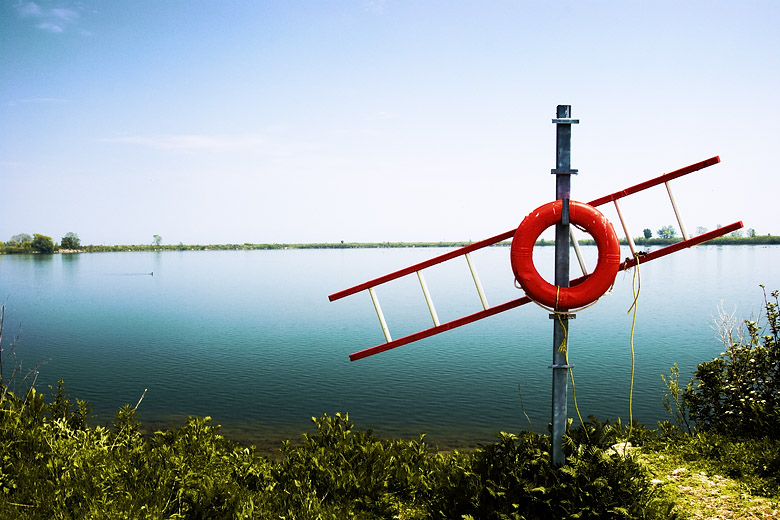 The pole, the ladder, and the lifesaver